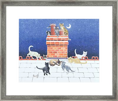 Midnight Madness Framed Print by Pat Scott