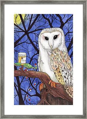 Midnight Meds Framed Print by Julie McDoniel
