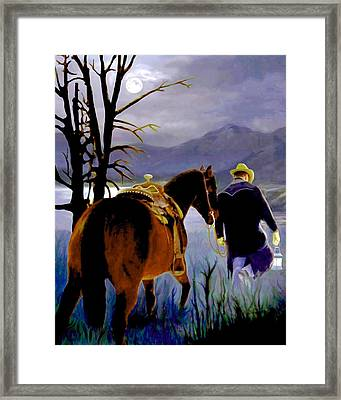 Midnight Ride Framed Print by Ron Chambers