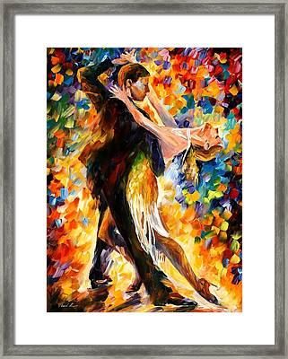 Midnight Tango Framed Print by Leonid Afremov