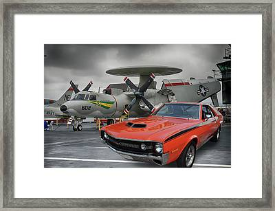 Midway A M X Framed Print by Bill Dutting