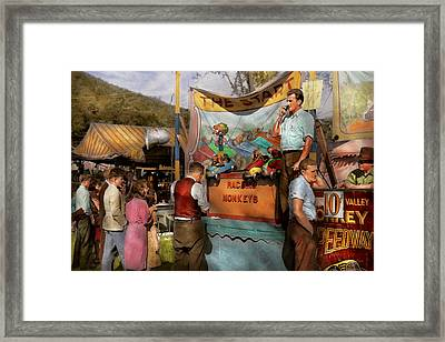 Midway - Racing Monkeys 1941 Framed Print by Mike Savad