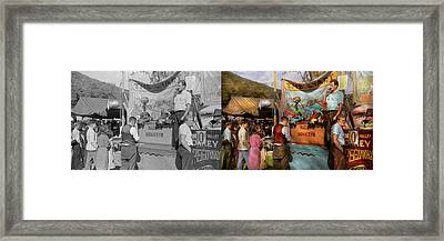 Midway - Racing Monkeys 1941 - Side By Side Framed Print by Mike Savad