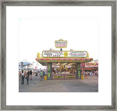 Midway Steak House - The Boardwalk At Seaside Framed Print by Bob Palmisano