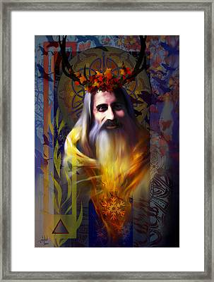 Midwinter Solstice Fire Lord Framed Print by Stephen Lucas