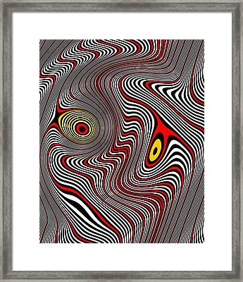 Migraine Aura Framed Print by Pet Serrano