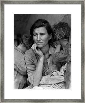 Migrant Mother, Portrait Of Florence Framed Print by Everett