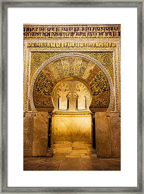 Mihrab In The Great Mosque Of Cordoba Framed Print by Artur Bogacki