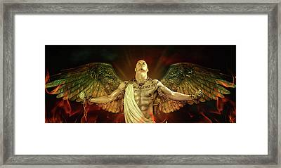 Mike Angel  Framed Print by Mark Ashkenazi