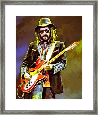 Mike Campbell Portrait Framed Print by Scott Wallace