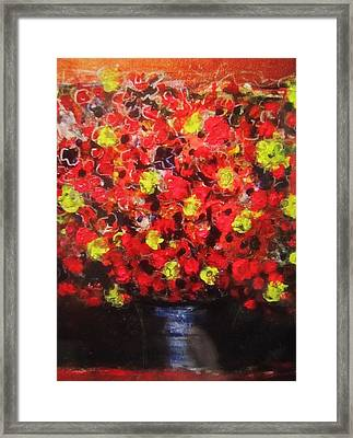 Mike Floral Framed Print by Todd Sherlock