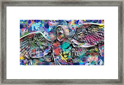 Mike Painting  Framed Print by Mark Ashkenazi
