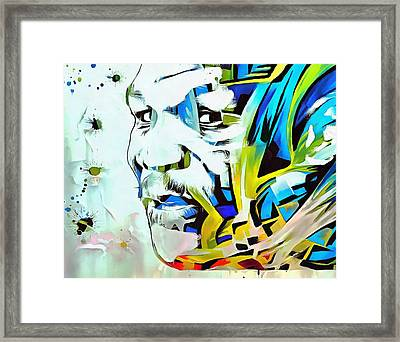 Mike Tyson Abstract Framed Print by Dan Sproul