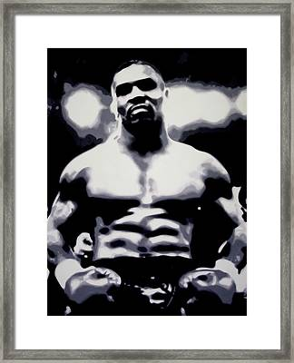 Mike Tyson Framed Print by Luis Ludzska