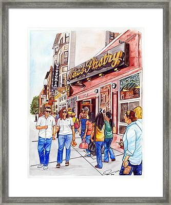 Mike's Pastry Framed Print by Dave Olsen