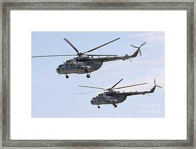 Mil Mi-17 Helicopters Of The Czech Air Framed Print by Timm Ziegenthaler