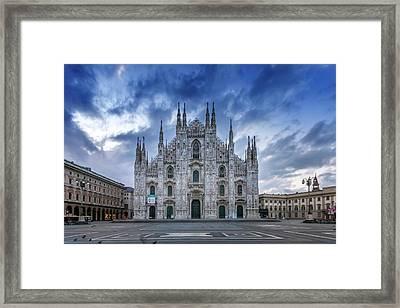 Milan Cathedral Santa Maria Nascente Framed Print by Melanie Viola