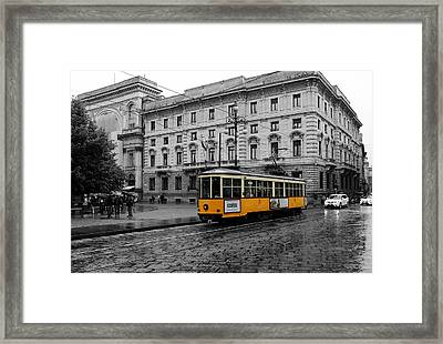 Milan Trolley 2c Framed Print by Andrew Fare