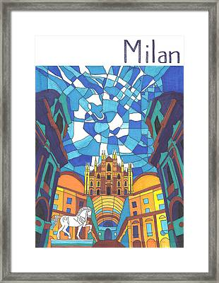 Milan Framed Print by Ushma Sargeant