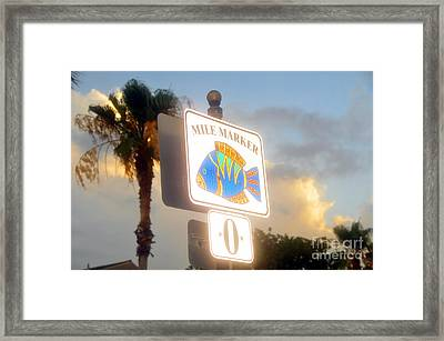Mile Marker Zero Framed Print by David Lee Thompson