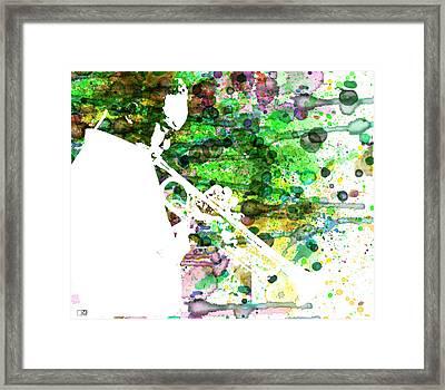 Miles Davis 2 Framed Print by Naxart Studio