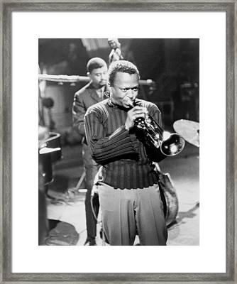 Miles Davis, In A Publicity Still Framed Print by Everett