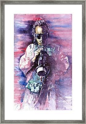 Miles Davis Meditation 2 Framed Print by Yuriy  Shevchuk