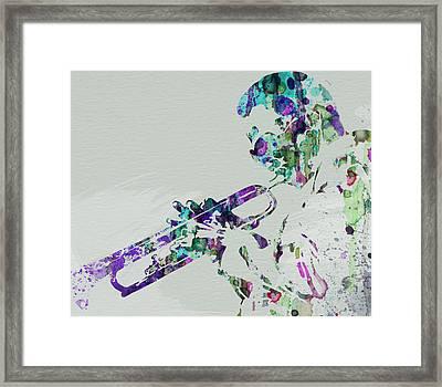 Miles Davis Framed Print by Naxart Studio