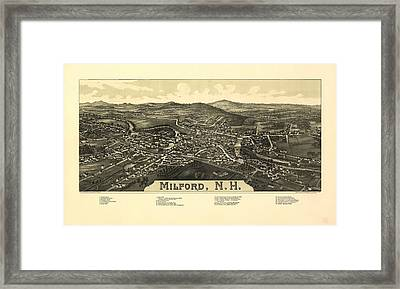Milford New Hampshire 1886 Framed Print by Mountain Dreams