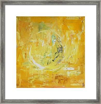 Milion Golden Thoughts Framed Print by Dorota Zukowska