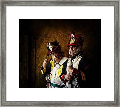 Military Men Framed Print by Mel Brackstone