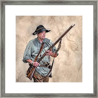 Militia Ranger Scout Portrait Framed Print by Randy Steele