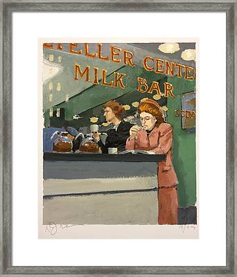 Milk Bar Framed Print by H James Hoff