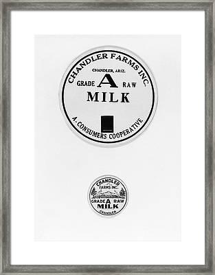 Milk Bottle Caps Framed Print by Russell Lee