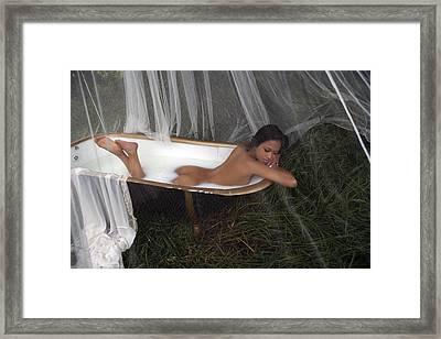 Milky Moon Framed Print by Waywardimages Waywardimages