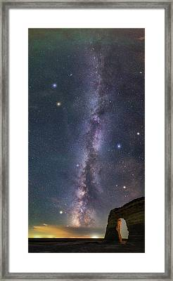 Milky Way Magic Framed Print by Darren White