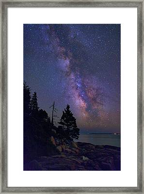 Milky Way Over Otter Point Framed Print by Rick Berk