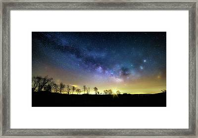 Milky Way Rising Framed Print by Bill Wakeley