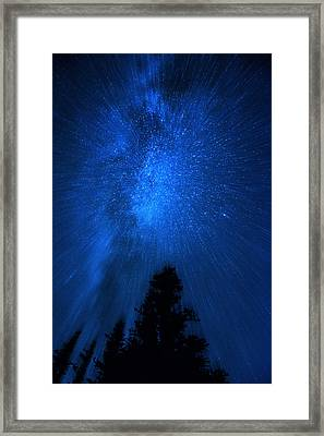 Milky Way Zoom Framed Print by Pelo Blanco Photo