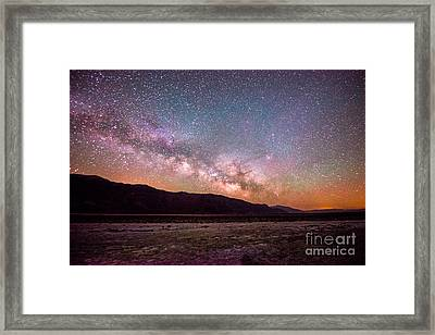 Milkyway Over Death Valley Framed Print by Jim DeLillo