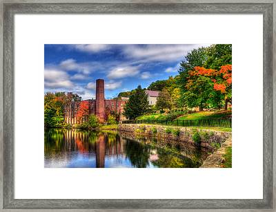 Mill Building - Autumn In Laconia Nh Framed Print by Joann Vitali