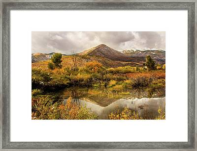 Mill Canyon Peak Reflections Framed Print by TL Mair