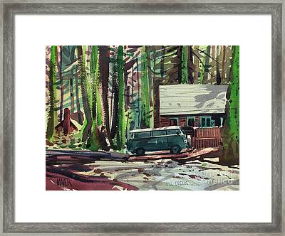Mill Creek Camp Framed Print by Donald Maier