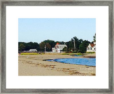Mill Pond In Westport Connecticut Framed Print by Christy Gendalia