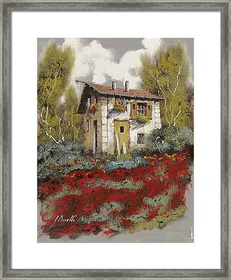 Mille Papaveri Framed Print by Guido Borelli
