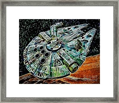 Millenium Falcon Framed Print by Paul Ward