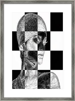 Millennial Square Series 1254 Framed Print by Rafael Salazar