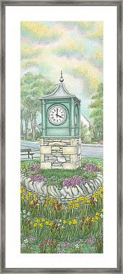 Millennium Clock  Endmoor  Cumbria Framed Print by Sandra Moore