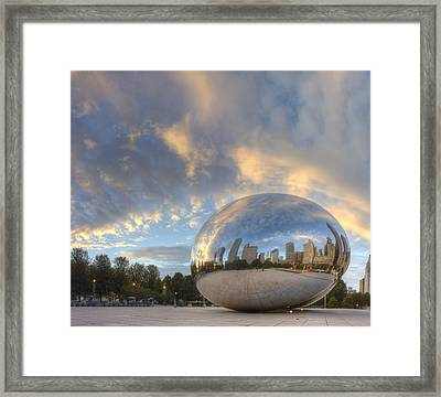 Millennium Park In The Morning Framed Print by Twenty Two North Photography