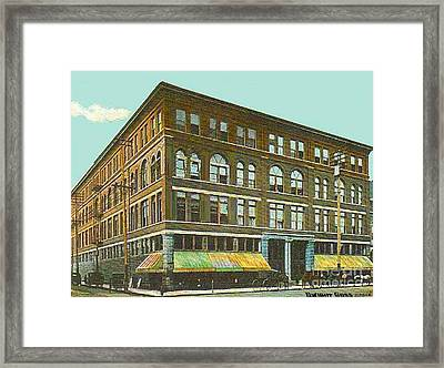 Miller Bros. Department Store In Chattanooga Tn In 1910 Framed Print by Dwight Goss